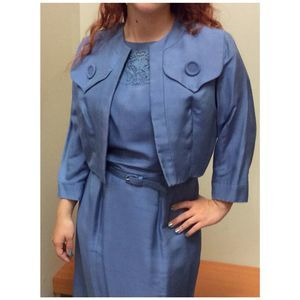 2 Piece 60's Dress and Short Waisted Jacket